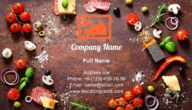 Food ingredients and spices Business Card Template