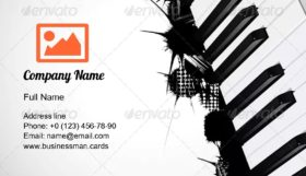 Keys from the Piano Business Card Template