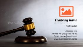 Judge or Auction Gavel Business Card Template