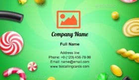 Candy Flat Lay Business Card Template