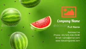 Watermelon Sweet Fruits Flavour Business Card Template