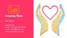 Healthcare and Charity Business Card Template