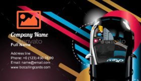Upgrade tuned car Business Card Template