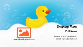 Rubber Duck Toy Business Card Template