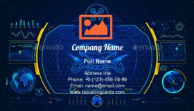 Drone Control Business Card Template