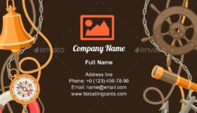 Nautical Sailing Items Business Card Template