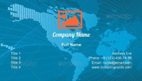Corporate World Business Card Template