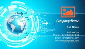 Map global site Business Card Template