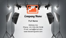 Photography studio spotlight Business Card Template