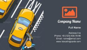 Taxi Yellow Cab Business Card Template