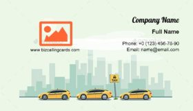 Parking Taxi Cars Business Card Template