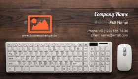 Keyboard and Mouse Business Card Template