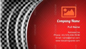 Silk Tissue in Checkered Racing Business Card Template