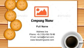 Coffee and Cookies Business Card Template