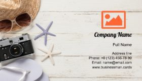 Summer Vacation Travel Business Card Template