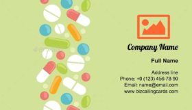Pills ornament elements Business Card Template