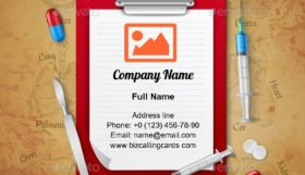 Doctors Notebook Medical Business Card Template