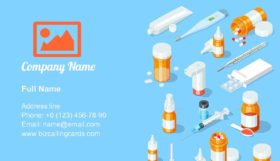 Medical equipment set Business Card Template