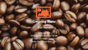 Freshness Coffee bean Business Card Template
