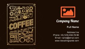 Coffee house poster Business Card Template