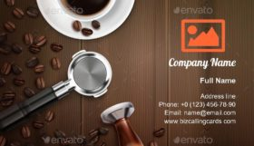 Barista Equipment Business Card Template
