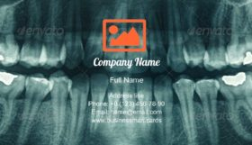 Panoramic Dental X-Ray Business Card Template