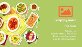 Meat and Fish Dishes Business Card Template
