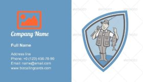 Fisherman Showing Fish Business Card Template