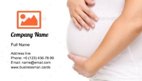 Pregnant Mom Stomach Business Card Template