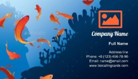 Beautiful antias fish Business Card Template