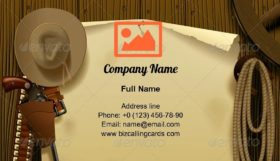 Wild West Relay Poster Business Card Template