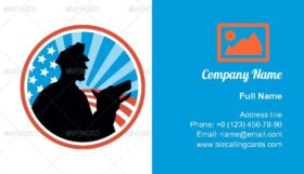 Guard With Police Dog Business Card Template