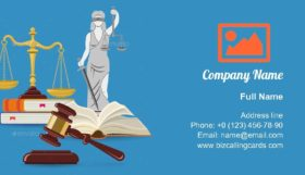 Law and Justice illustration Business Card Template