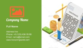 House Insurance Concept Business Card Template