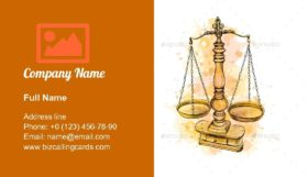 Vintage Old Scale Business Card Template