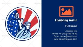 American Lady Holding Scales Business Card Template