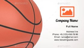 Basketball Sport Ball Business Card Template