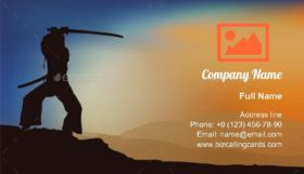 Training with Sword Shadow Business Card Template