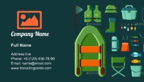Fishermen Equipment Business Card Template