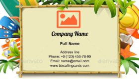 Bamboo Frame Business Card Template