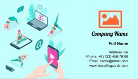 Online Yoga Business Card Template