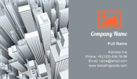 City downtown district Business Card Template
