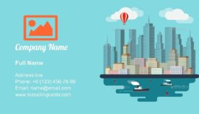 Urban Landscape Illustration Business Card Template