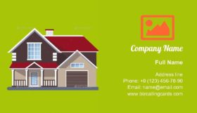 Flat Residential House Business Card Template