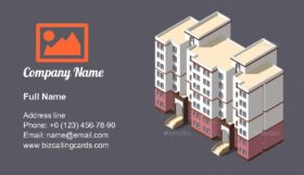 Town Apartment Building Business Card Template