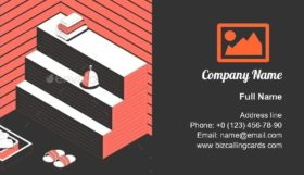 Sauna with bath accessories Business Card Template