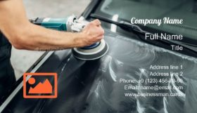 Auto Carwash Service Business Card Template