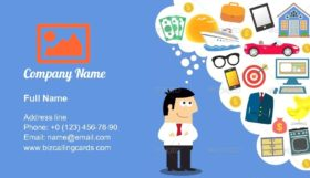 Future planning illustration Business Card Template