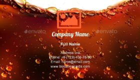 Splash of Cola Business Card Template