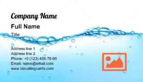 Clean Water Wave Business Card Template